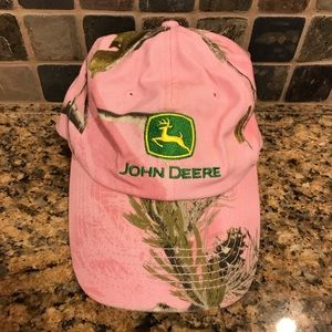 John Deere Pink Camo Strapback Hat Cap